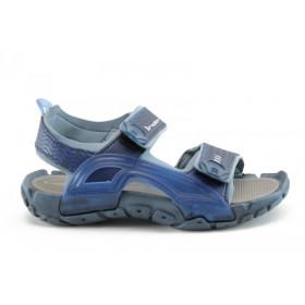 Дамски сандали - висококачествен pvc материал - сини - EO-894