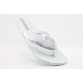 Дамски чехли - висококачествен pvc материал - бели - EO-900