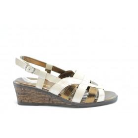 Дамски сандали - естествена кожа - бели - EO-1490