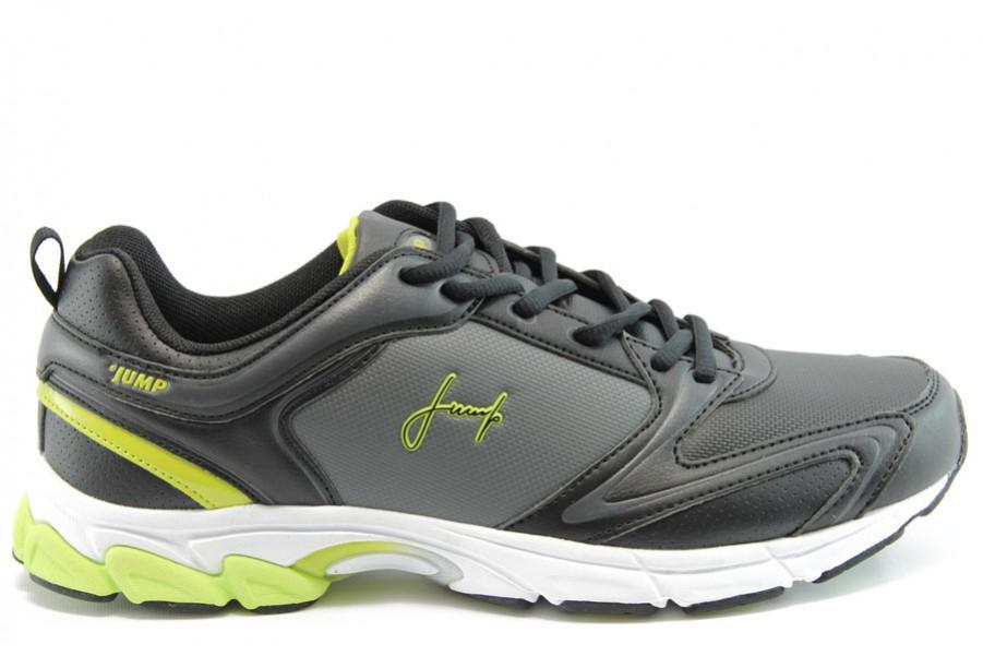 Спортни мъжки обувки - еко-кожа - черни - EO-1893