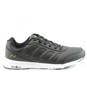 Спортни мъжки обувки - еко-кожа - черни - EO-1902