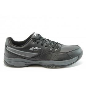 Спортни мъжки обувки - еко-кожа - черни - EO-1905