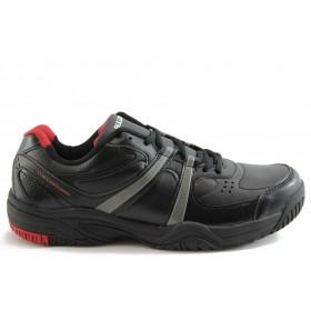 Спортни мъжки обувки - еко-кожа - черни - EO-1871