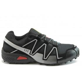 Спортни мъжки обувки - еко-кожа - черни - EO-1948
