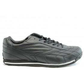 Спортни мъжки обувки - еко-кожа - черни - EO-1952