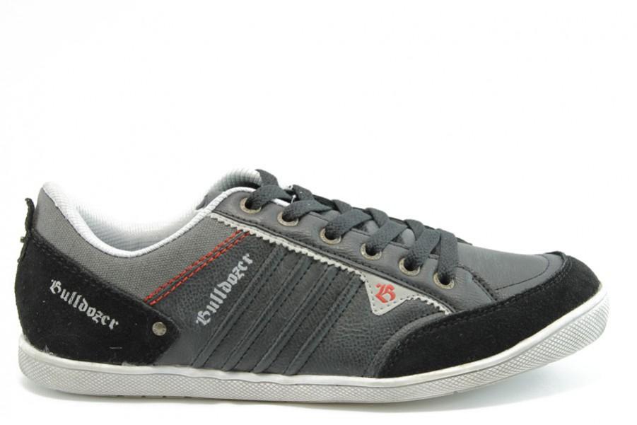 Спортни мъжки обувки - еко-кожа - черни - EO-2069