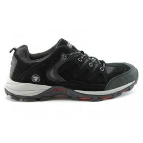 Спортни мъжки обувки - естествен набук - черни - EO-761