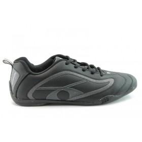 Спортни мъжки обувки - еко-кожа - черни - EO-765