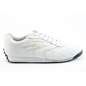 Юношески маратонки - естествена кожа - бели - EO-8118