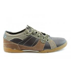 Спортни мъжки обувки - еко-кожа - кафяви - EO-786