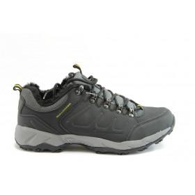 Спортни мъжки обувки - еко-кожа - черни - EO-2073