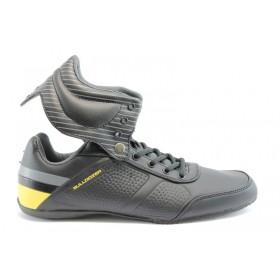 Спортни мъжки обувки - еко-кожа - черни - EO-798