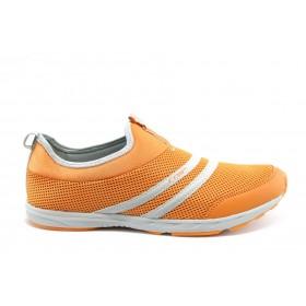 Спортни мъжки обувки - висококачествен текстилен материал - оранжеви - EO-1497