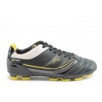 Спортни мъжки обувки - еко кожа-лак - жълти - EO-2985