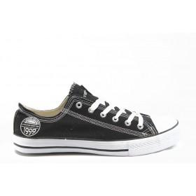 Спортни мъжки обувки - висококачествен pvc материал и текстил - черни - EO-2767