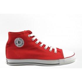 Спортни мъжки обувки - висококачествен pvc материал и текстил - черни - EO-2771