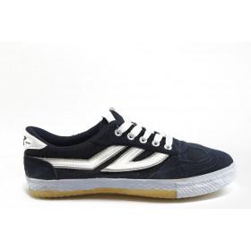 Спортни мъжки обувки - естествен велур - сини - EO-5963