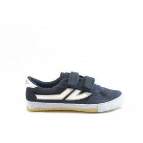 Детски обувки - естествен велур - сини - EO-5961