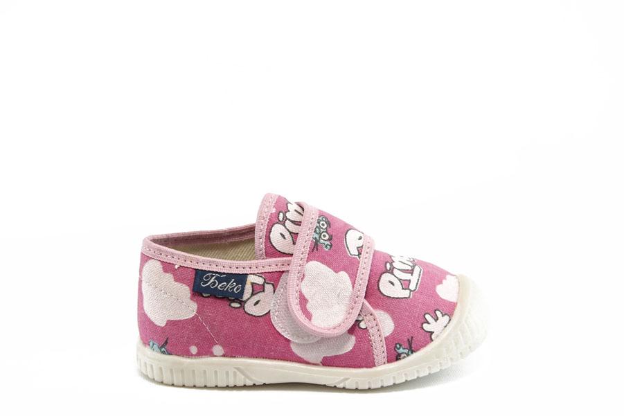 Детски обувки - висококачествен текстилен материал - розови - EO-2804