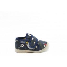 Детски обувки - висококачествен текстилен материал - сини - EO-2805