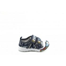 Детски обувки - висококачествен текстилен материал - сини - EO-2806