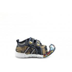 Детски обувки - висококачествен текстилен материал - кафяви - EO-2807