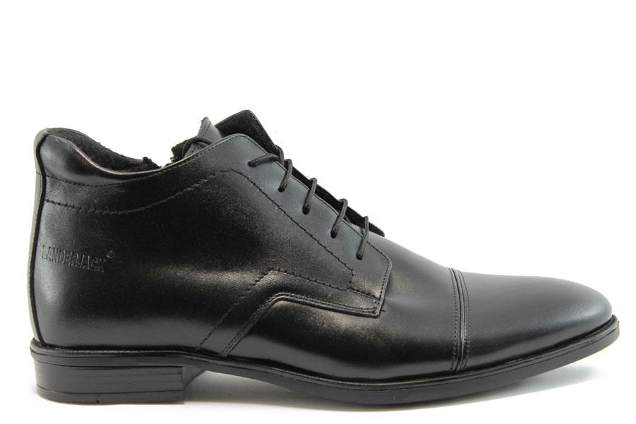 Мъжки боти - естествена кожа - черни - EO-7586