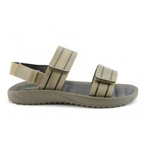 Мъжки сандали - висококачествен pvc материал - бежови - EO-1096