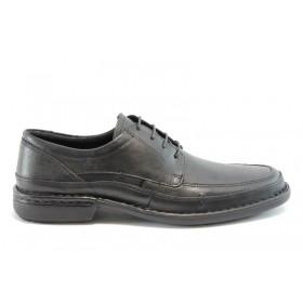 Мъжки обувки - естествена кожа - черни - EO-1156