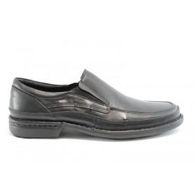 Мъжки обувки - естествена кожа - черни - EO-1158