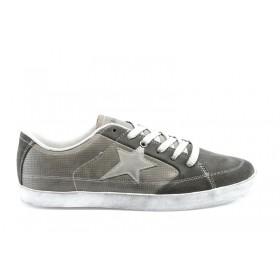 Спортни мъжки обувки - естествен велур - сиви - EO-810