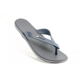 Мъжки чехли - висококачествен pvc материал - сини - EO-1179
