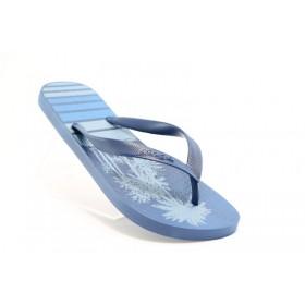 Мъжки чехли - висококачествен pvc материал - сини - EO-1180