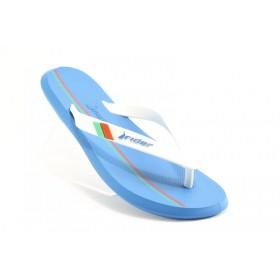 Мъжки чехли - висококачествен pvc материал - сини - EO-1184