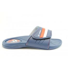 Мъжки чехли - висококачествен pvc материал - сини - EO-1190