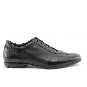 Мъжки обувки - естествена кожа - черни - EO-2342