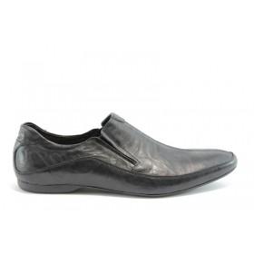 Спортно-елегантни мъжки обувки -  - черни - EO-339