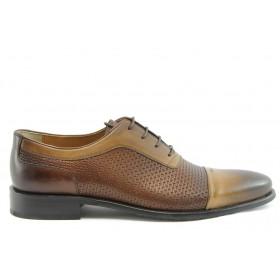 Мъжки обувки - естествена кожа - кафяви - EO-2267