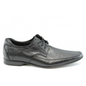 Мъжки обувки - естествена кожа - черни - EO-2002