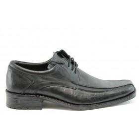Мъжки обувки - естествена кожа - черни - EO-2092