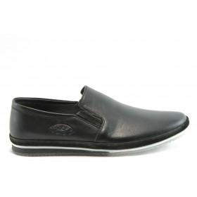Мъжки обувки - естествена кожа - черни - EO-5265