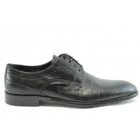 Мъжки обувки - естествена кожа - черни - EO-2102