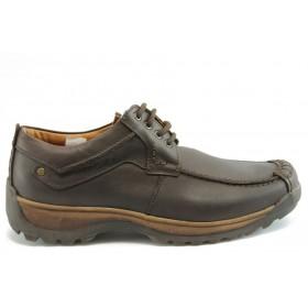 Мъжки обувки - естествена кожа - кафяви - EO-2183