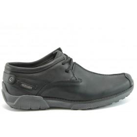 Мъжки обувки - естествена кожа - черни - EO-2186