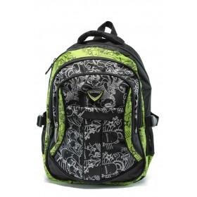 Ученическа раница - висококачествен полиестер - зелени - БР 002 зелен
