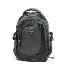 Раница - висококачествен полиестер - черни - БР 276