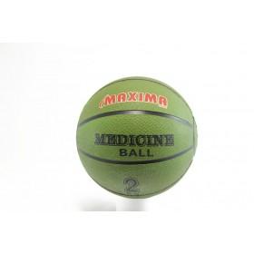 Медицинска топка - висококачествена еко-кожа - зелени - EO-2859