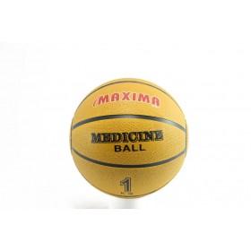 Медицинска топка - висококачествена еко-кожа - жълти - EO-2866