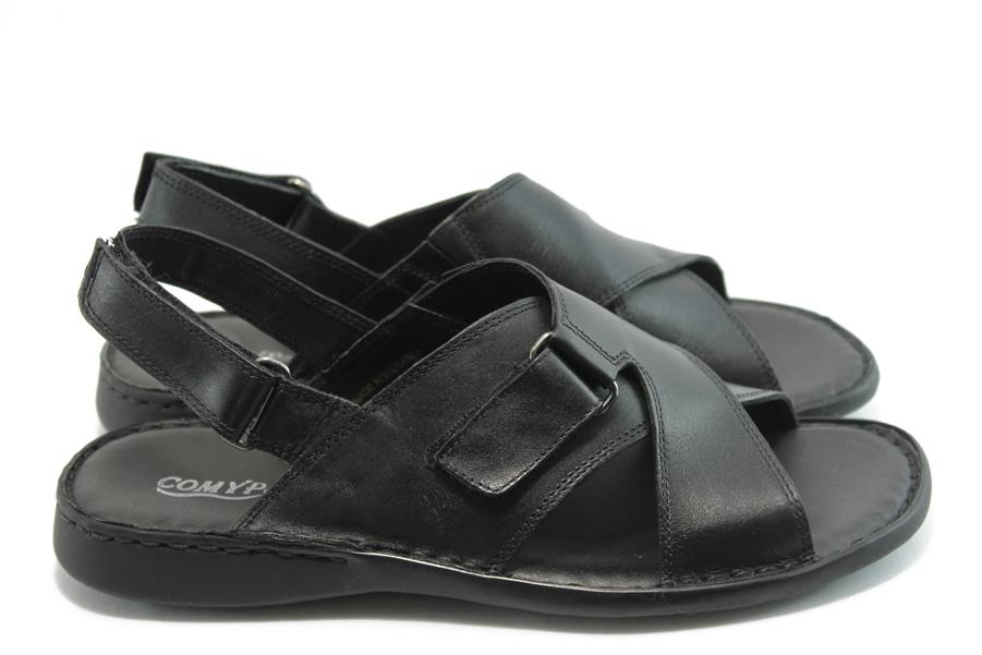 e955214ebcd Мъжки сандали - естествена кожа - черни - EO-1094