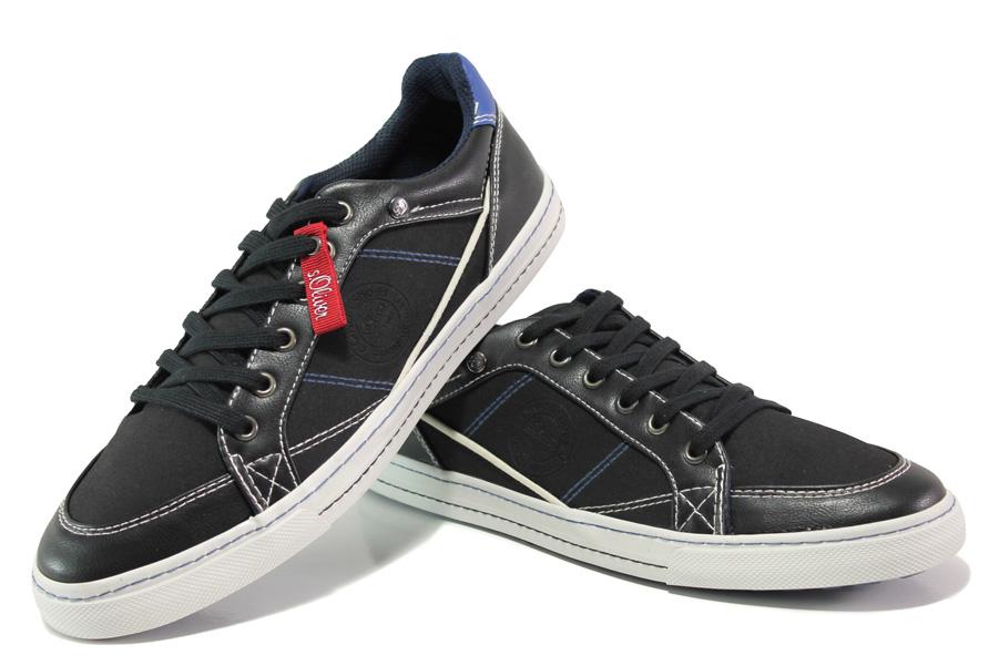 4ef0cf48f14 Спортни мъжки обувки - висококачествена еко-кожа - черни - EO-12983